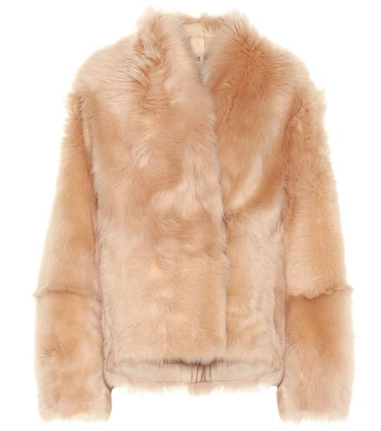 Petar Petrov Fur jacket in beige