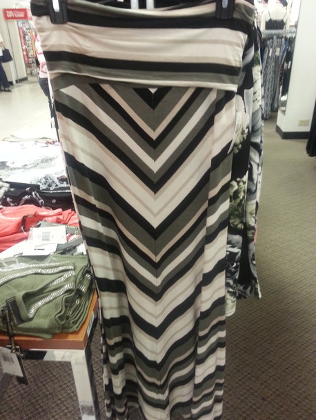 shirt striped skirt