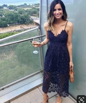 dress,navy,crochet,lace dress,prom dress