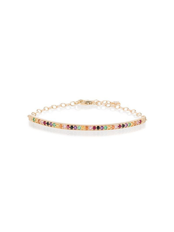 Andrea Fohrman 18kt yellow gold and sapphire bracelet
