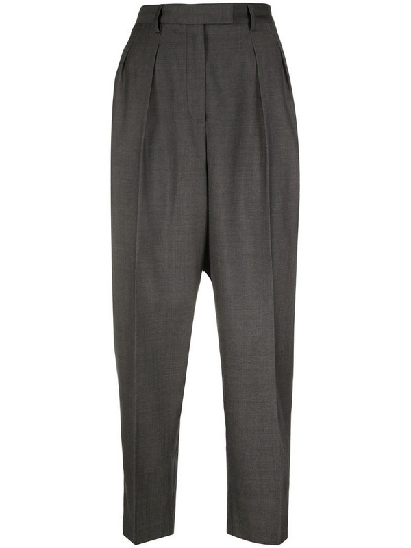 A.P.C. pleated waist trousers in grey