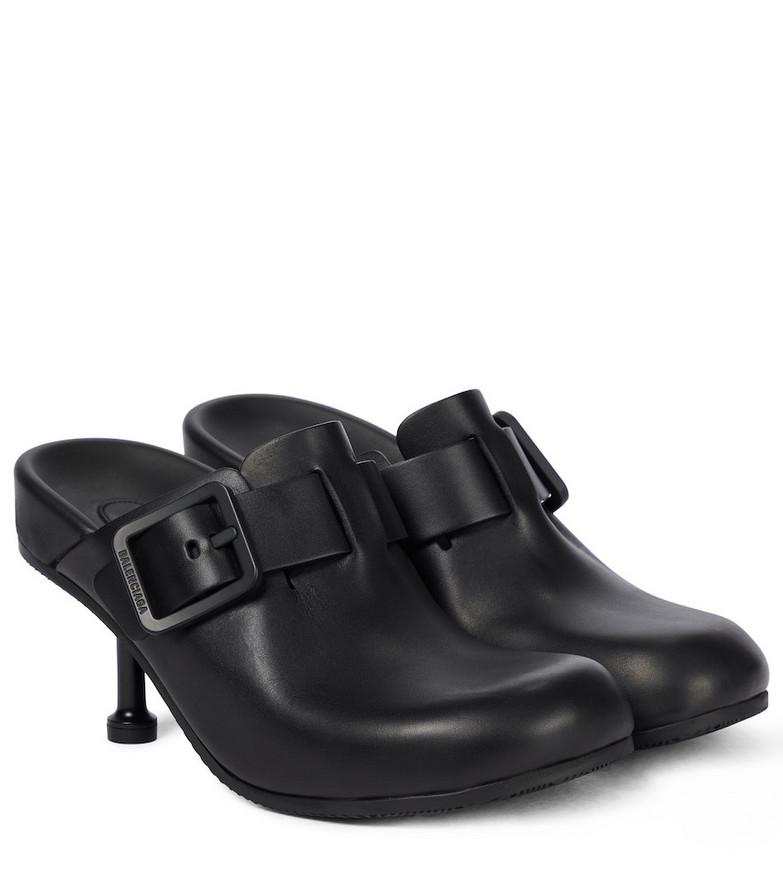 Balenciaga Mallorca Sabot leather mules in black