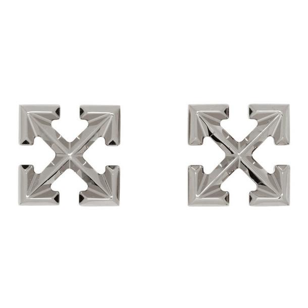 Off-White Silver Small Arrow Earrings