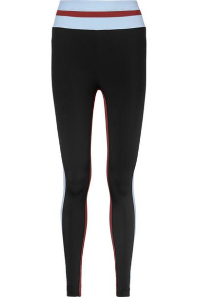 Vaara - Faye Thermal Tuxedo Striped Stretch Leggings - Black