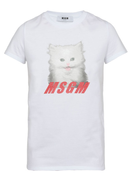 MSGM Logo T-shirt in white