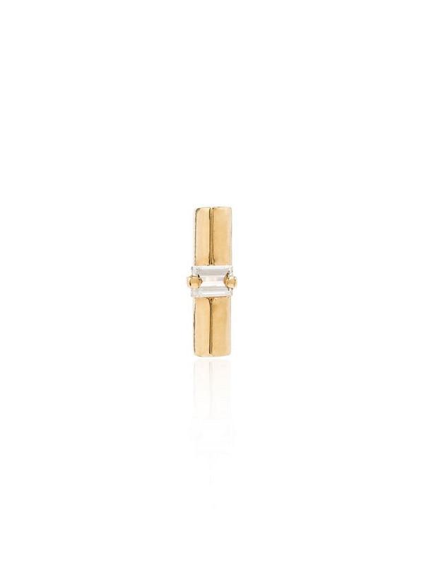 Lizzie Mandler Fine Jewelry 18K yellow gold diamond bar stud earring