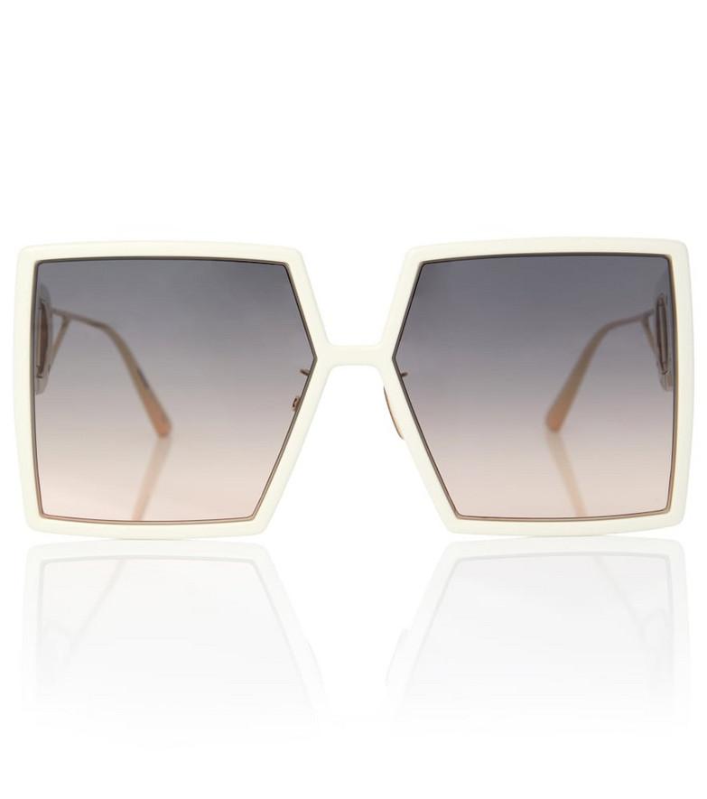 Dior Eyewear 30Montaigne SU oversized sunglasses in white