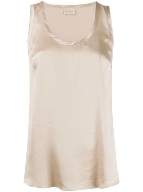 Brunello Cucinelli loose-fit sleeveless top in neutrals