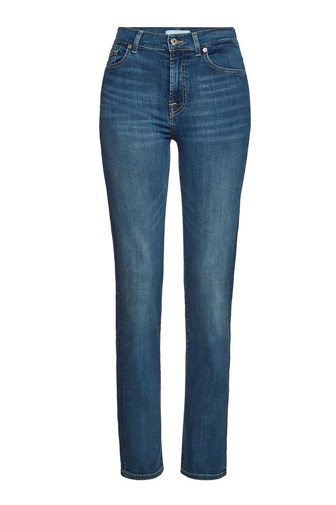 7 for all Mankind The Straight Bair Vintage Dusk Jeans  in blue