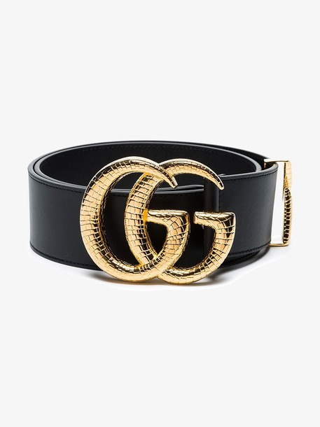 Gucci Leather belt with Double G buckle in black
