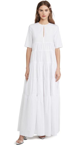 STAUD Cocoon Dress in white