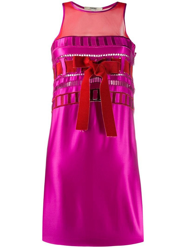 Gianfranco Ferré Pre-Owned 1990s sleeveless ribbon dress in pink