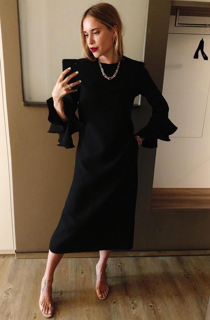 dress midi dress pernille teisbaek instagram blouse blogger