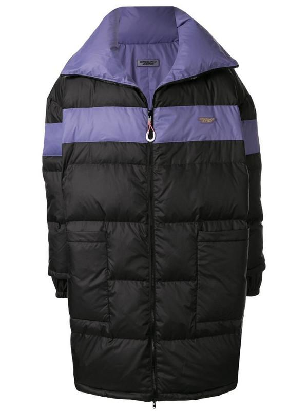 Ground Zero padded oversized coat in purple