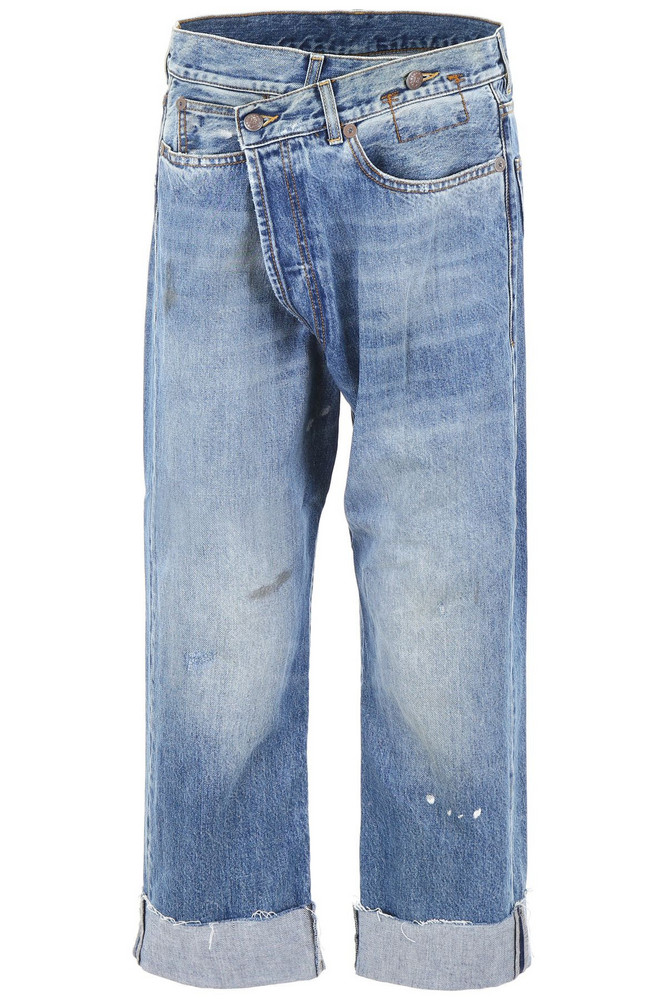 R13 Crossover Jeans in blue