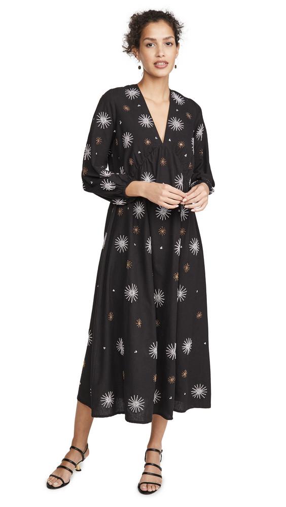SUNDRESS Chicago Long Dress in black / multi