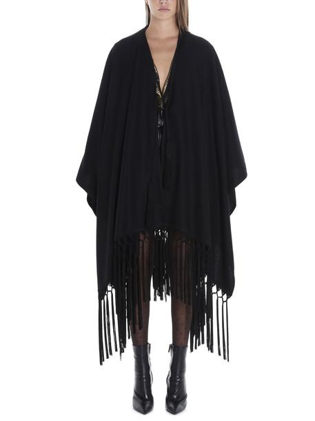 Saint Laurent Poncho in black
