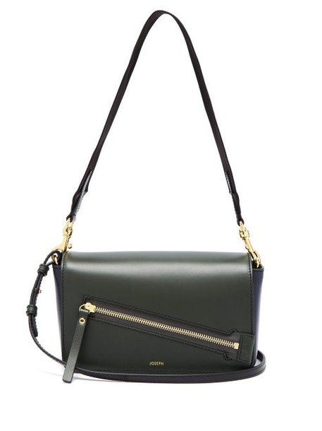 Joseph - Warwick Leather Shoulder Bag - Womens - Green Navy