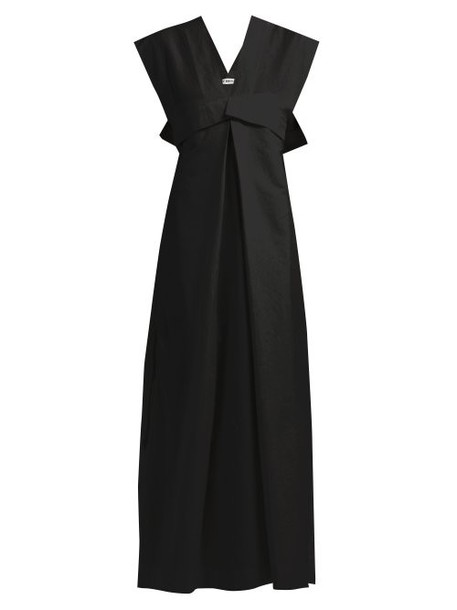 Issey Miyake - Color Stroke Cotton Blend Dress - Womens - Black