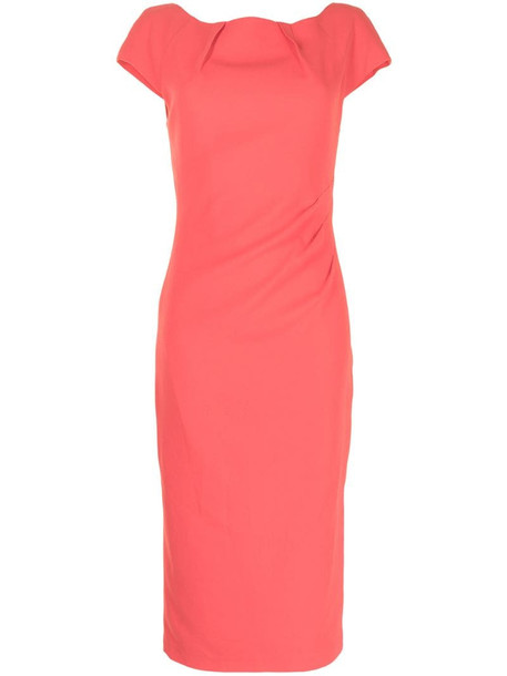 Ginger & Smart Prospective boat neck midi dress in pink