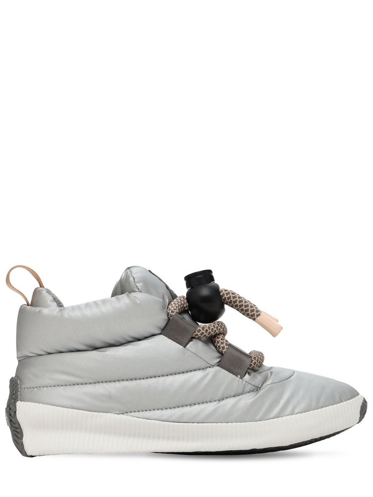 SOREL Out 'n' About Puffy Lace-up Booties in silver