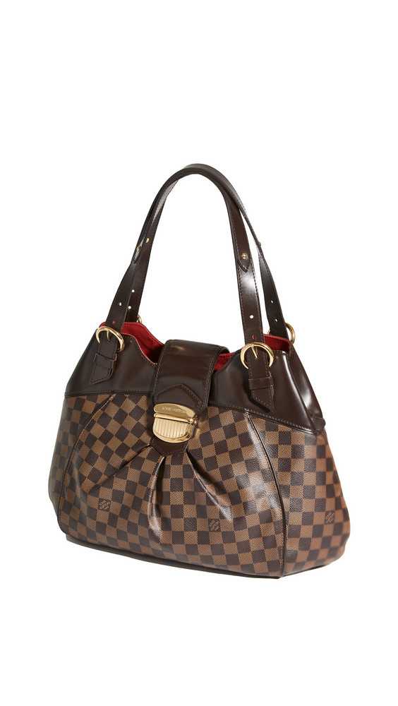 What Goes Around Comes Around LV Damier Ebene Sistina Gm Bag in brown
