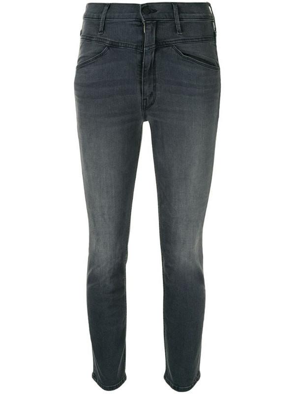 Mother Dazzler skinny jeans in grey
