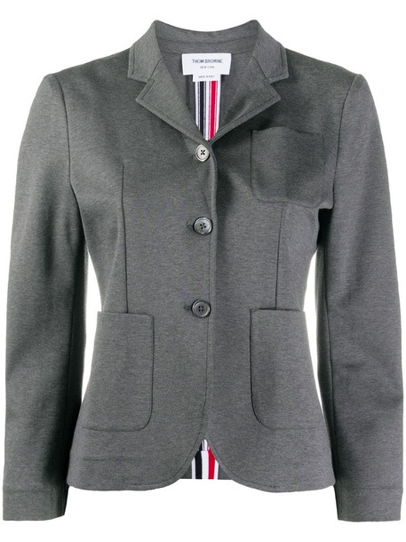 Thom Browne tricolour stripe sport coat in grey