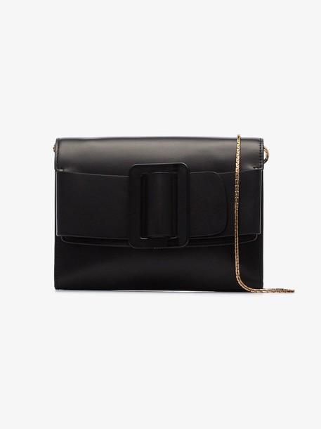 Boyy bow detail clutch bag in black