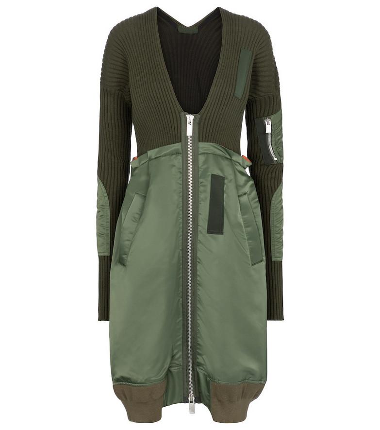 Sacai Cotton-blend jacket in green