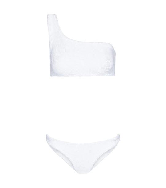 Hunza G Nancy one-shoulder bikini in white