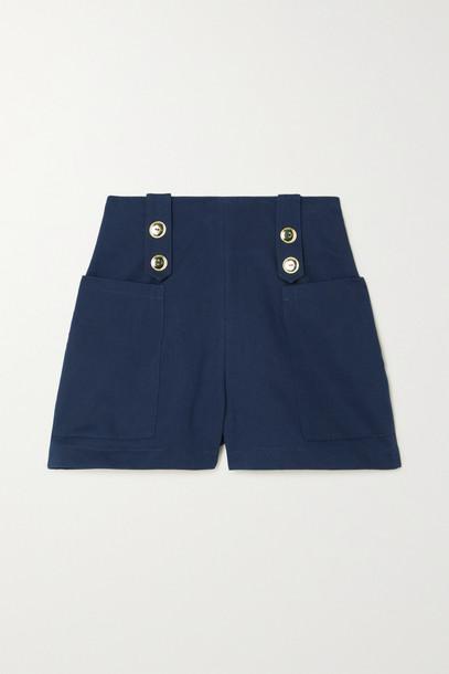 ARTCLUB - + Net Sustain Vita Marina Cotton-twill Shorts - Blue