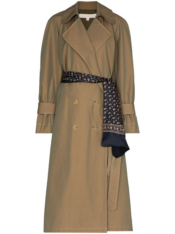 By Any Other Name French double-breasted trench coat in brown