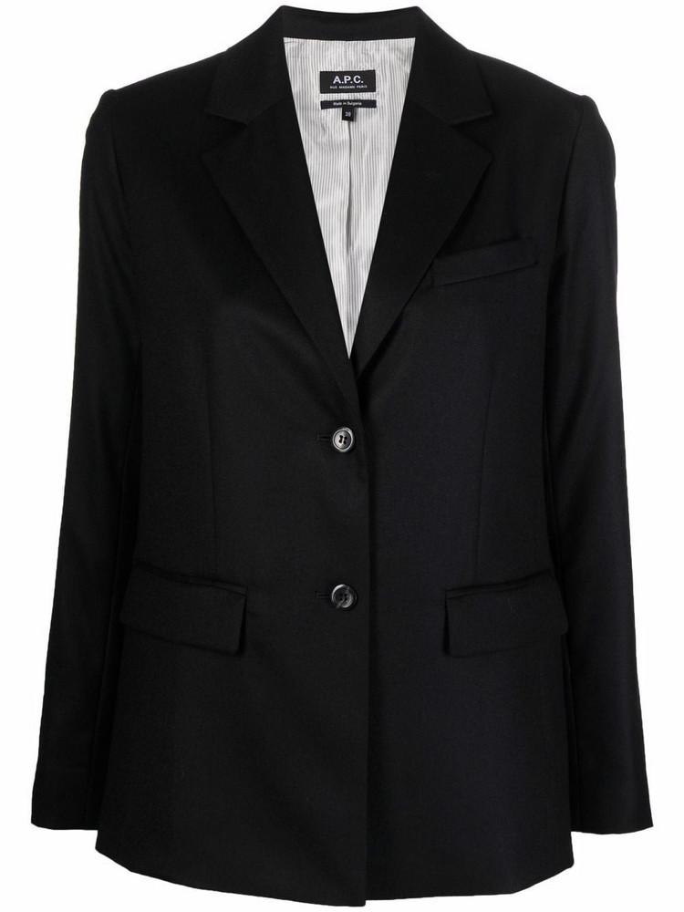 A.P.C. A.P.C. single-breasted wool blazer - Black