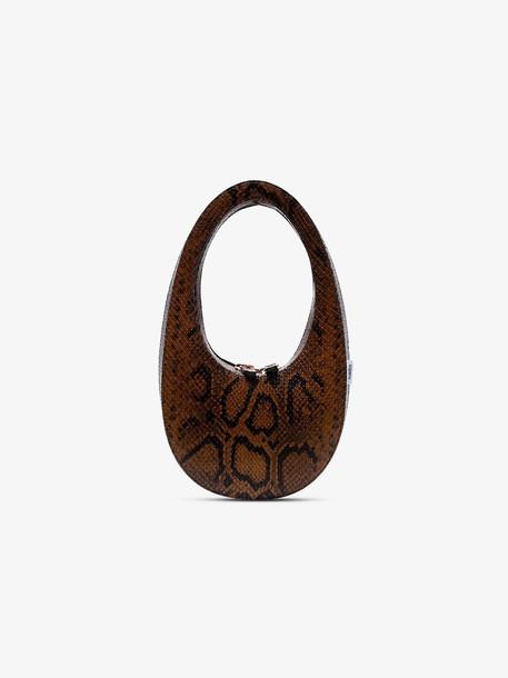 Coperni brown swipe mini python print leather shoulder bag