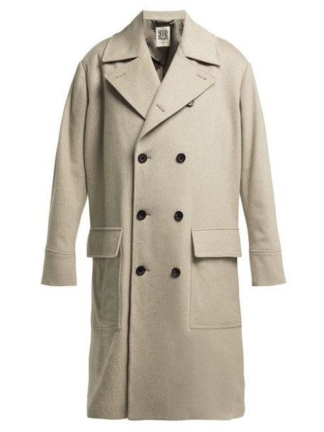 Connolly - Double Breasted Wool Coat - Womens - Beige