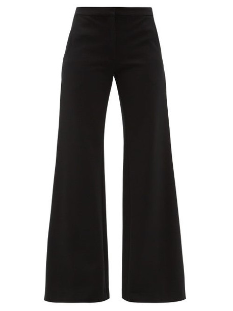 Goat - Laine Jersey Wide-leg Trousers - Womens - Black