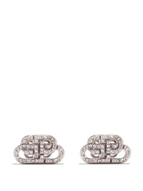 Balenciaga - Bb Xs Crystal-embellished Earrings - Womens - Crystal