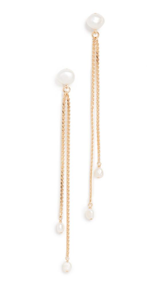 Chan Luu Pearl Drop Earrings in white