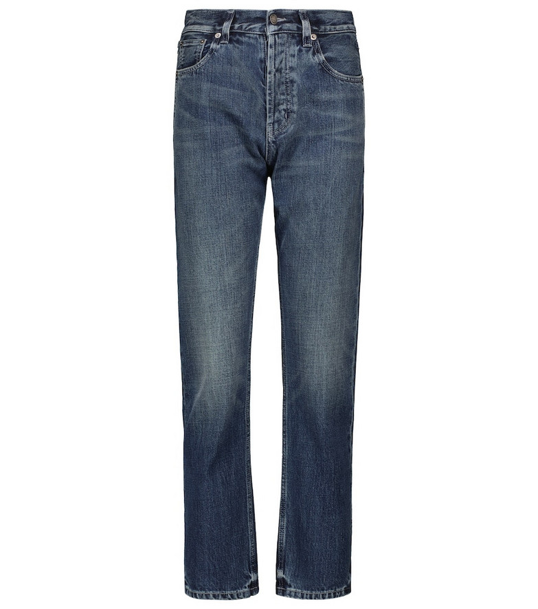 Saint Laurent Mid-rise straight jeans in blue