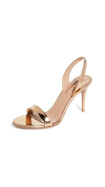 Aquazzura So Nude 85 Sandals in gold