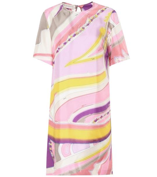 Emilio Pucci Printed silk dress in pink