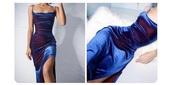 dress,velvet,velvet dress,blue,red,blue dress,red dress,iridescent,long dress