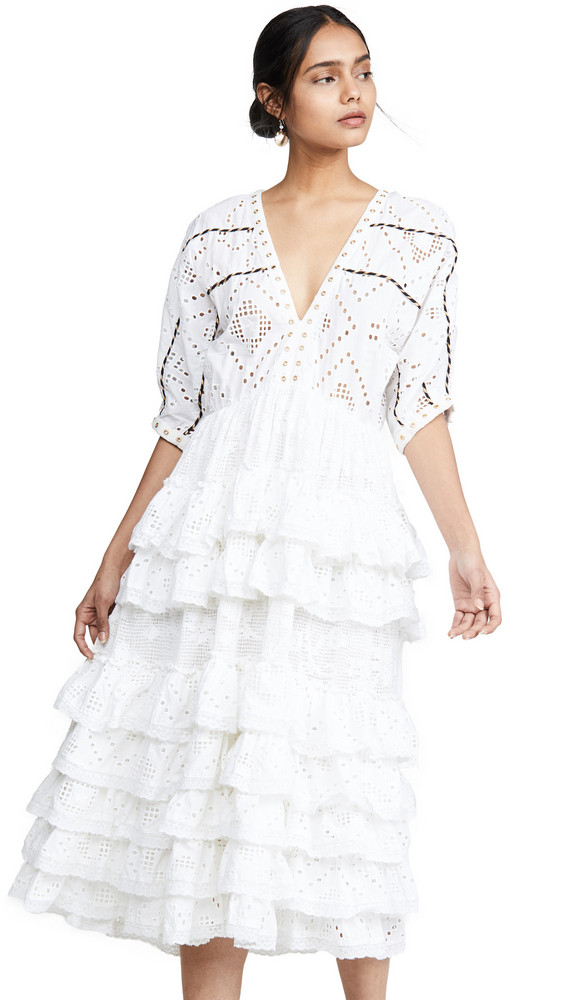 Place Nationale Le Castel Maxi Dress in white