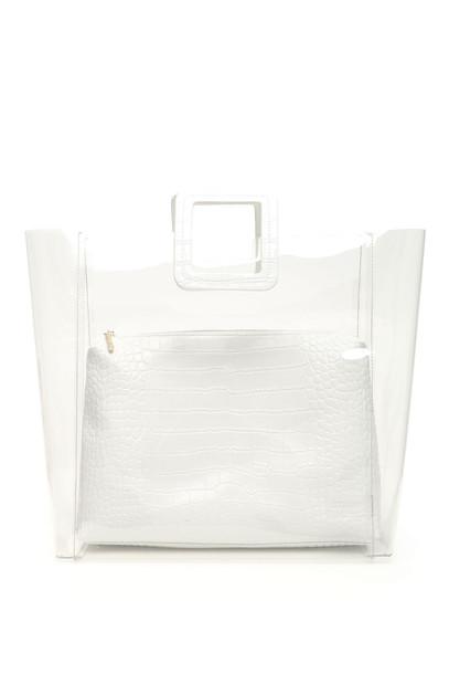 STAUD Large Shirley Bag in cream