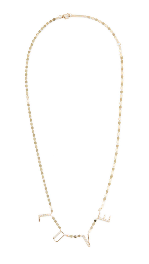 LANA JEWELRY 14k Hanging Love Necklace in gold / yellow