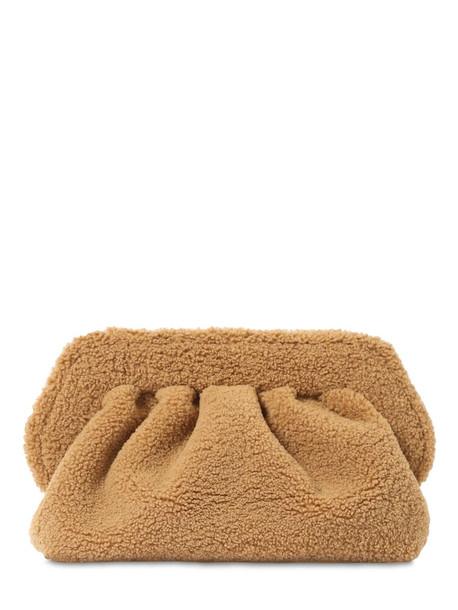 THEMOIRÈ Bios Faux Fur Clutch in camel