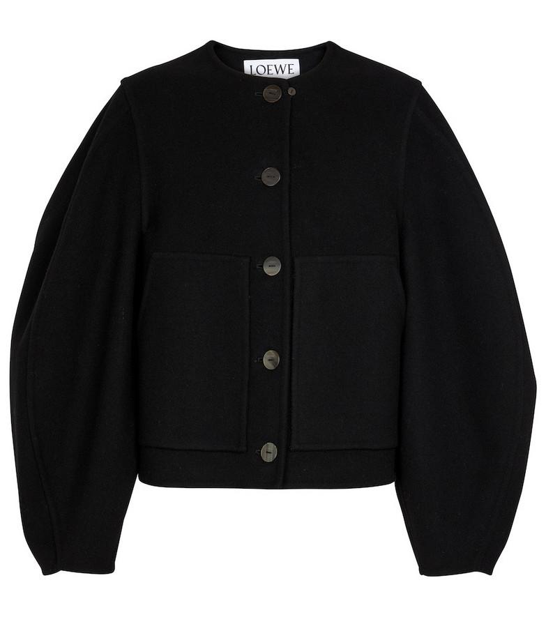 LOEWE Wool and cashmere cardigan in black