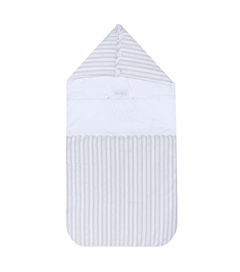 Tartine et Chocolat Striped cotton bunting bag in grey