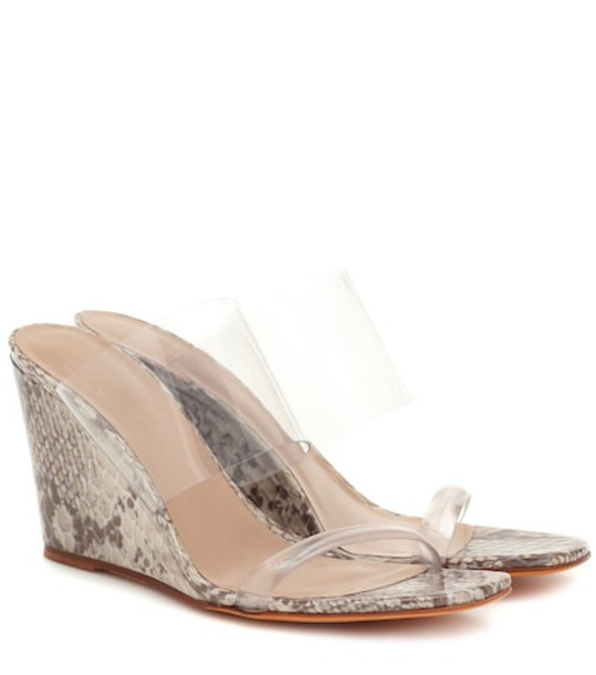 Maryam Nassir Zadeh Olympia leather and PVC sandals in grey